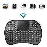 Mini Clavier Portable sans Fil 2,4 GHz avec pavé Tactile, télécommande avec Batterie Li-ION...