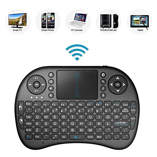 2.4GHz Mini Mobile Wireless Keyboard with Touchpad Mouse, Rechargable Li-ion Battery for LG 7LM4600 47' LED 3D Smart TV