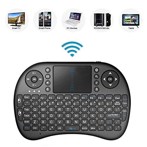 Mini tastiera wireless 2,4 GHz con touchpad, telecomando con batteria ricaricabile agli ioni di litio per Sony BRAVIA KD-43XG8396BU 109,2 cm