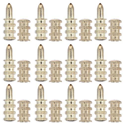 ULTECHNOVO 20 Stück Tischstifte Zinklegierung Tisch Bolzenhülsenverbinder Tischblatt Passstift Ausrichtungsstift 28Mm für Heim-Hardware-Werkzeug (Golden)