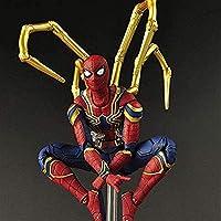 Yxsd おもちゃの像 アイアンスパイダーマン玩具モデル - 子供の誕生日ギフトおもちゃ共同可動キャラクター - マーベルアベンジャーズ無限戦争15センチメートルスパイダーマンアクションフィギュア