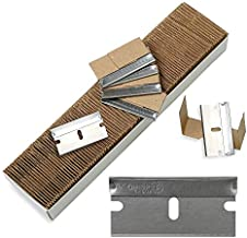 Single Edge Industrial Razor Blades, Safety Straight Edge Razors, Box & Carton Cutter Replacement Blades, Glass & Paint Scraper Razor Blades (Box of 100) - Fits ALL Standard Tools -%100 Made in USA