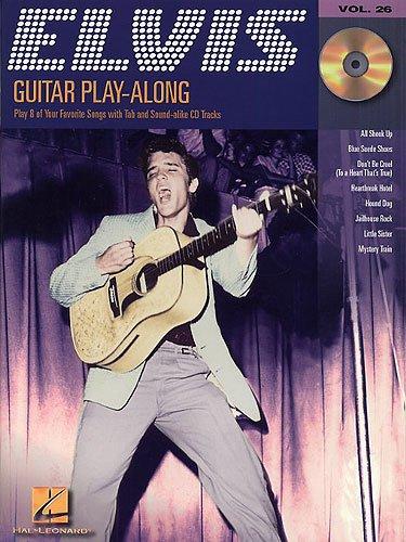 Guitar Play Along Elvis Presley - Set de 8 Canciones para Guitarra y Vocabulario (CD y CD) con púa, diseño de King of Rock'n'Roll