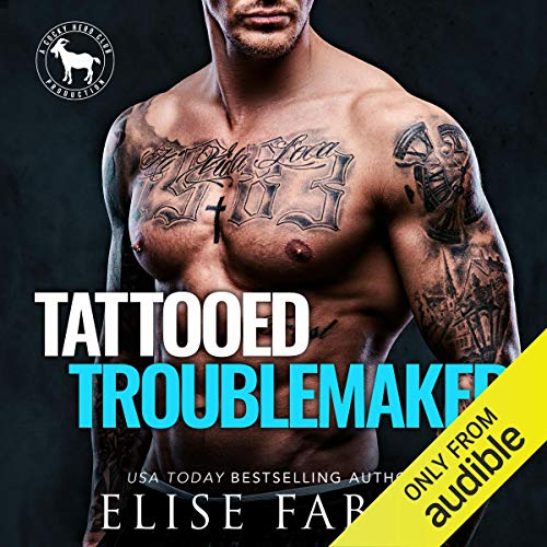 Tattooed Troublemaker Audiobook By Elise Faber,                                                                                        Hero Club cover art