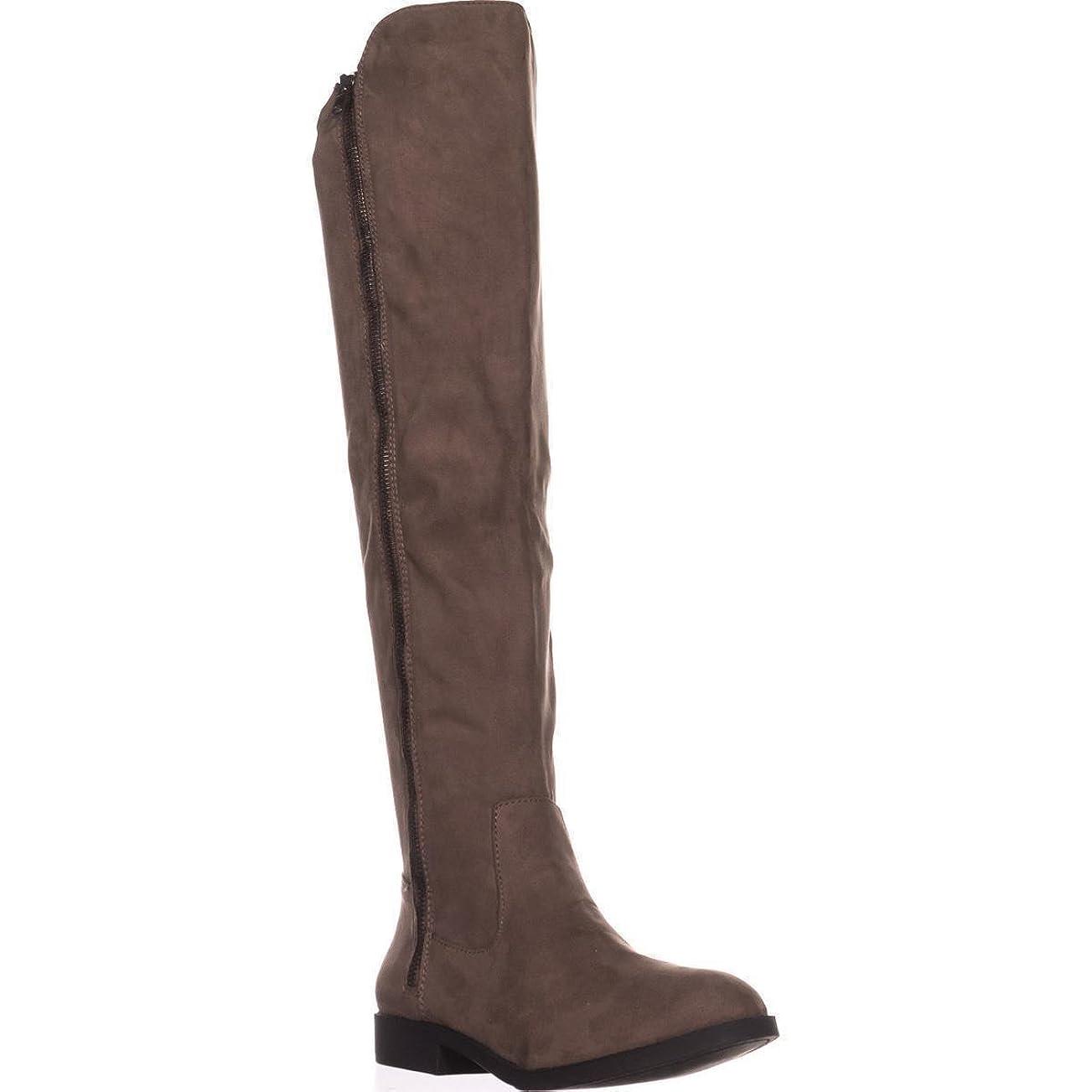 幽霊放棄放映Style & Co. Womens HADLEYY Wide Calf Round Toe Suede Fashion Boots