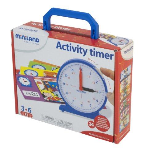 Miniland - 8295282 - Jeu Educatif - ML Compter - Horloge - 11 Cm