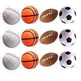 Mydio Set of 24 Stress Balls Toy Stress Reliver Party Favor Soft PU Ball Party Toys Kids Play Ball Tent Ball Toddler Ball Mini Basketball Mini Football Mini Volleyball 24 Pack