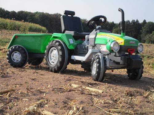 Lucino Super Traktor mit 2 Motoren je 12V Traktor mit Anhänge Fahrzeug Top 05210 - H