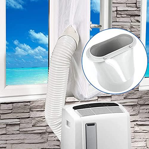 TOPPLAYER Ventana Adaptador, 15cm Adaptador Universal de Tubo para Ventana, Aire Acondicionado Portatil Adaptador, Conector de Adaptador, Adaptador de Ventana Fácil de Instalar