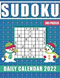 Sudoku Daily Calendar 2022: 365 Sudoku Puzzles for every day of the year 2022, Large Puzzles From Easy to Hard with solutions.