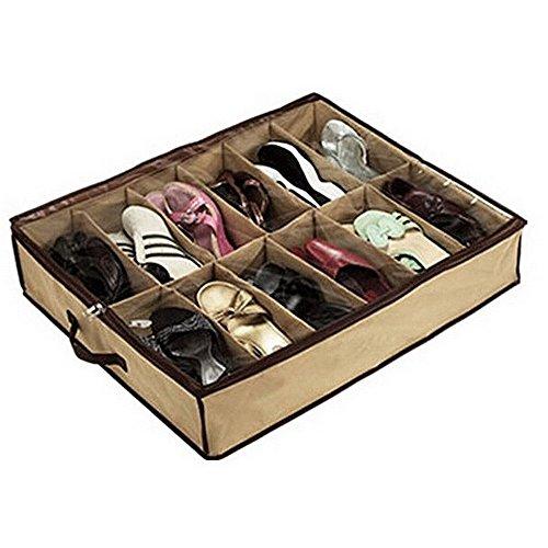 whizztec–12par de zapatos zapatero soporte de almacenamiento organizador bolsa caja debajo de la cama armario