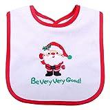 Baberos de Navidad para bebés, baberos personalizados, suaves, cómodos, de algodón, con diseño de Papá Noel bordados, baberos de Navidad para bebés, baberos de Navidad, baberos unisex