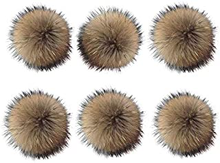 6 Unids 15 cm Faux Fox Fur Fluffy Pompom Ball con Botón de