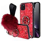 Jinghuash - Cover per Samsung Galaxy Note 10 Lite / A81 con anello glitterato Samsung Galaxy Note 10 lite/A81 Colore: rosso
