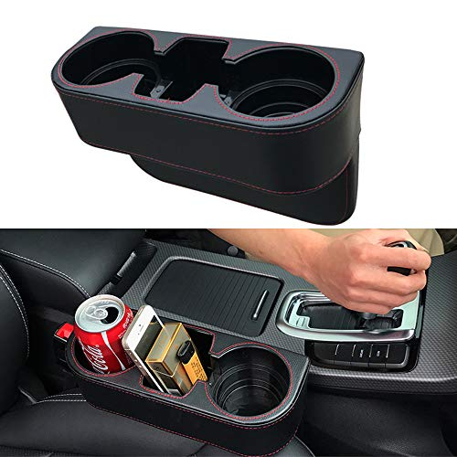 juman634 Car Seat Gap Filler Storage Box Cup Holder Mobile Phone Coin Collector Mobile Phone Holder Multifunctional Auto Accessories