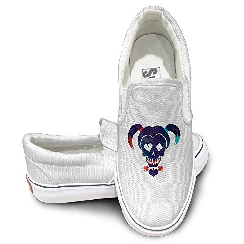 StephenIris Suicide Squad-Harley Quinn Unisex Print Sneakers Skateboard Shoes White