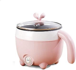 XYSQ Pequeña Cocina Eléctrica Compartida De Estudiantes, Multiusos Dormitorio del Hogar Dedicado, Hot Pot Cocinar Fideos Pequeña Olla Pequeña Potencia 1-2 Personas (Color : Pink)