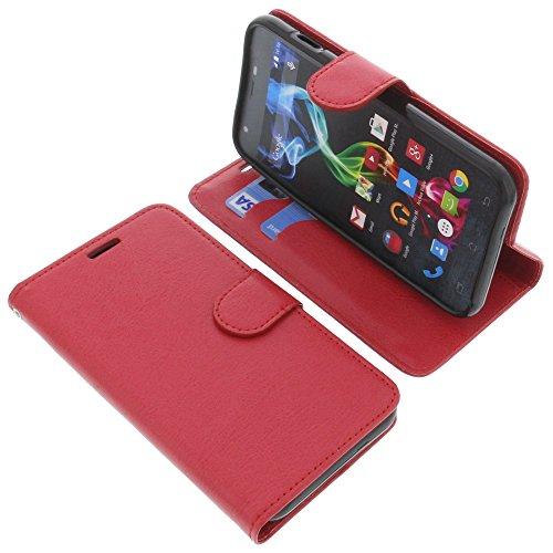foto-kontor Tasche für Archos 50c Platinum Book Style rot Schutz Hülle Buch