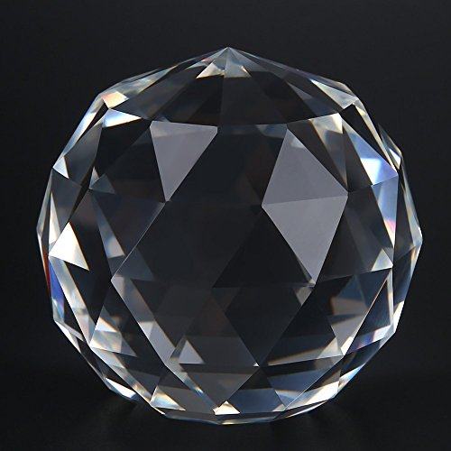 Wghz Bola de Cristal de Corte Transparente, 60/80 mm, Bola de Mirada facetada translúcida, prismas de Esfera de Cristal de Corte Transparente, Bola de Cristal, atrapasueños, decoración del Hotel,
