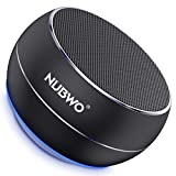 NUBWO Portable Bluetooth Speaker with Enhanced Bass and Stereo Sound, TWS, Bulti in Mic, Wireless Speaker Portable for Phone, iPad, Mac, Tablet, Echo (Black)
