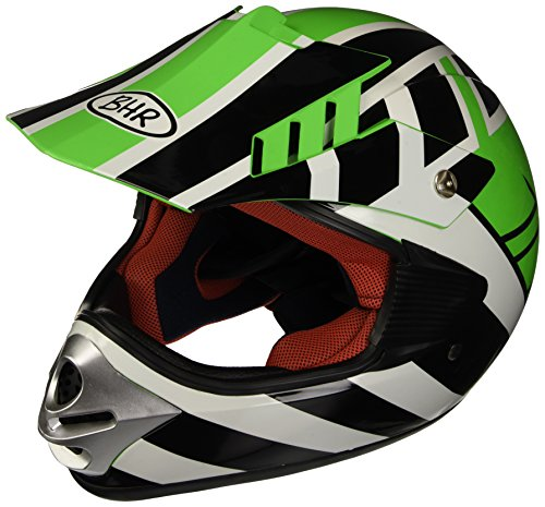 BHR Casco Motocross Bimbo Modello 712, Verde B, 48