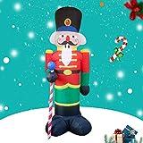 Papá Noel Hinchable Inflable Decoración De Navidad Iluminación con Leds Luces De Exterior Interior Decoración Navideña Yarda Arco Adorno para Jardín,A