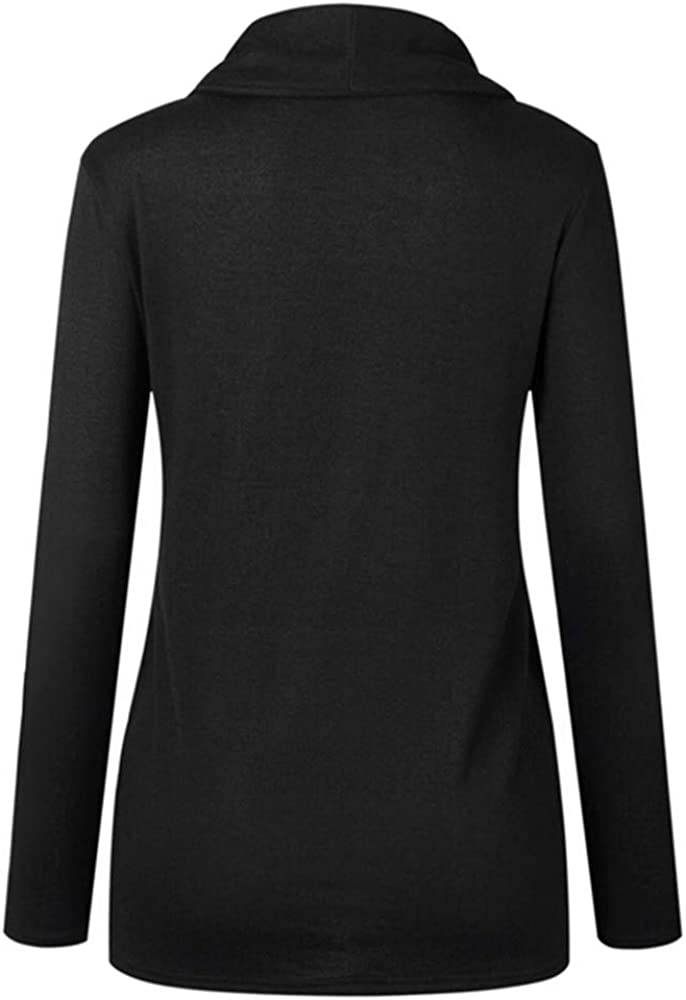 MORCHAN ❤ Femmes Automne Hiver Manches Longues Casual Sweat Pull Solide Haut Chemisier