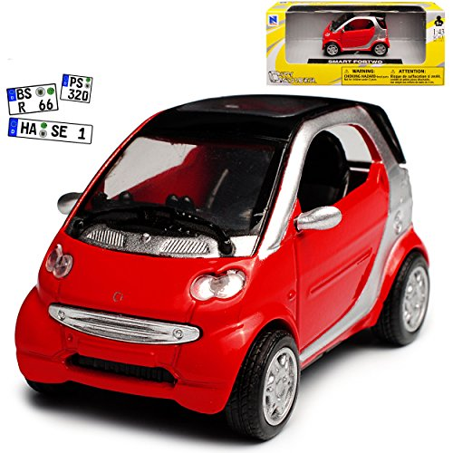 New Ray Smart Fortwo C450 Coupe Rot 1. Generation 1998-2007 1/43 Modell Auto
