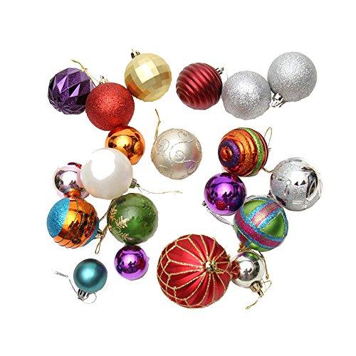 Decorazioni dell'albero Di Natale Multicolore Palle Lucidi Infrangibili Bagattelle Casa Decorazione Decorazione D'Attaccatura Pacchetto Di 24