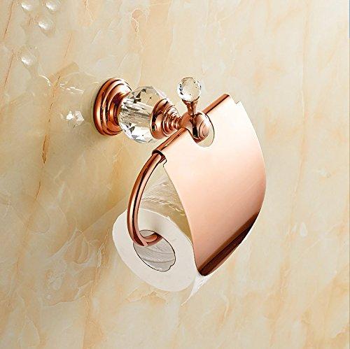 GFEI toutes les serviettes de papier cuivre or continental rack / salle de bains matériel pendentif d'une serviette de papier - toilette, crystal,c