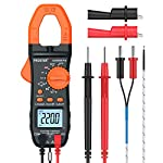 Proster 6000 Counts Clamp Multimeter Digital Auto-Ranging Tester AC DC Current Voltage Clamp Meter with Temperature NCV TRMS Continuity Capacitance Resistance Frequency Diode Hz Test