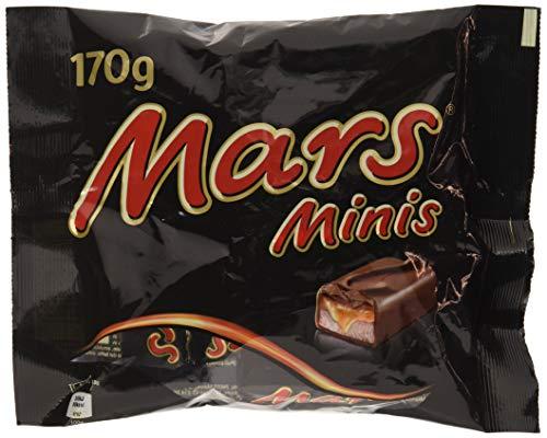 Mars Minis Barette Ricoperte con Cioccolato al Latte con Caramello - Pacco da  28 pezzi x 170 g