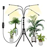 Plant Grow Light ,Grow Light for Indoor Plants Full Spectrum, LED Grow Lights with Stand Adjustable 15-58 inch, Auto On/Off Timing 4-Heads Plant Light,Grow Lights for Seed Starting