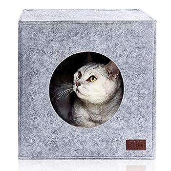 PiuPet® Panier chat coussin inclus, Compatible avec IKEA® Kallax étagères