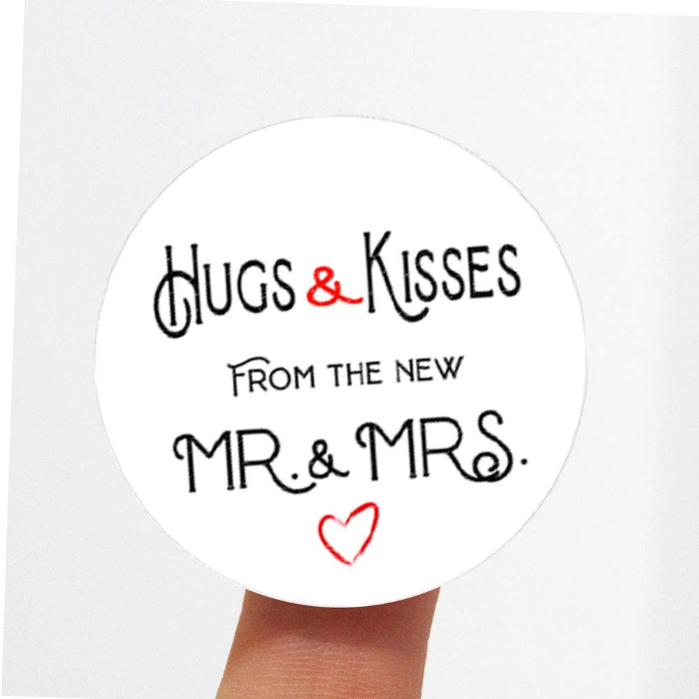 120pcs Hugs and Kisses from the Wedding Mrs. Kiss new Stic low-pricing depot Mr.
