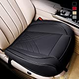kingphenix Premium PU Car Seat Cover - Front Seat Protector Works with 95% of Vehicles - Padded, Anti-Slip, Full Wrapping Edge - (Dimensions: 21'' x 20.5'') - 1 Piece, Black