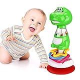 Achort Jouets de hochet pour bébés 6-12 Mois, Jouets de Chaise Haute Dinosaur pour bébés avec Ventouse, Jouet de Table pour bébé pour Le Jeu sensoriel, éducation Table à Manger Chariot Sucker Toy