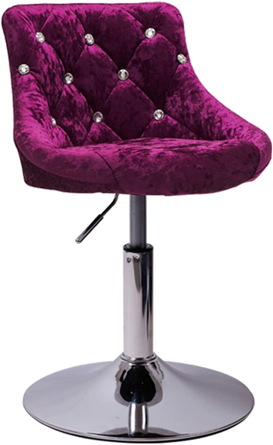 Breakfast Chairs Home Chairs Office Chairs Beauty Chairs Barstools Swivel Chairs Creative Chairs 360° redation (color   Purple, Size   A.)