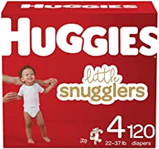 Huggies Little Snugglers Baby Diapers, Size 4, 120 Ct