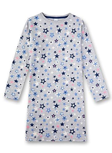 Sanetta Mädchen Nachthemd, Grau (Hellgrau Melange 1646), (Herstellergröße: 128)