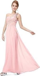 6aa436387d0 Ever-Pretty Robe de Soirée Plissée en Mousseline Une Bretelle Fleurs 09768