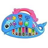 OFKPO Juguetes de Piano Instrumento Musical Eléctrico con Canciones Animal Sonido Nota de Piano Reco...