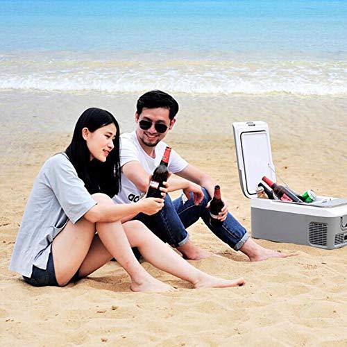 Frigoríficos mini Mini Refrigerador del Coche, 12V/24V/220V Mini Nevera Refrigerador Portátil con Congelador, 18L/26L Refrigerador Compacto de Refrigeración de Doble Núcleo para Viajes de Picnic Al Ai