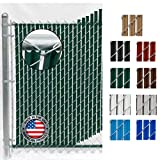 Wave Slat (9 Colors) Single Wall Bottom Locking Privacy Slat for 4', 5', 6', 7' and 8' Chain Link Fence (6 ft, Green)