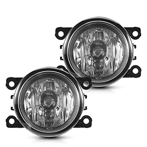 Torchbeam Fog Light Assembly for 33900STKA11 4F9Z15200AA with H11 12V 55W Halogen Bulbs for Accord/Xterra, Clear Lens