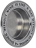 Wilton Armetale Wine Bottle Coaster, A Dinner Without, Silver - 601016