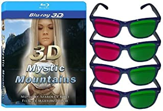 3D Mystic Mountains [Blu-ray 3D] and 4 3D Glasses Pack