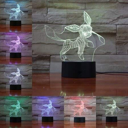 (Solo 1) luce notturna 3D 7 colori anime cartoon gattino cucciolo linea luce lampada da tavolo bambini regalo carino atmosfera lampada regalo dei bambini regalo di compleanno decorazione