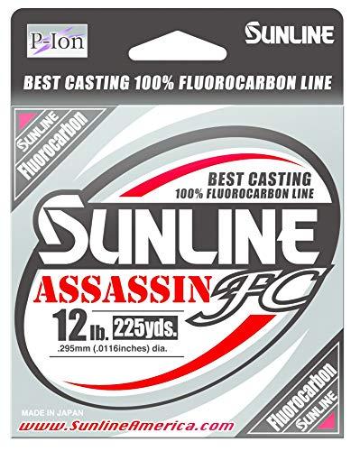 Sunline 63042308 4594-0113 Assassin FC 20Lb Fishing Equipment, 20 lb