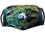 Handgemachter Behelfs-Mundschutz Maske Panda 60° waschbar